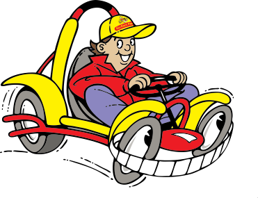 go kart party logo